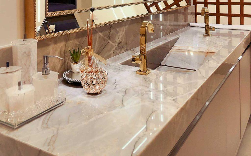 Bathroom Gabana Quartzite Super Classico Natural Stones